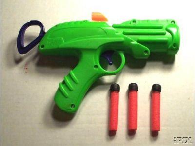 Nerf gun darts green